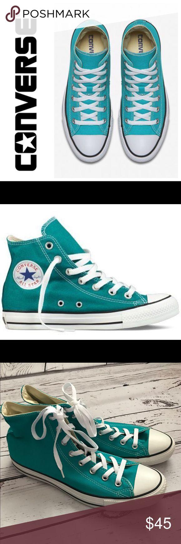 🎉Host Pick 3/5🎉Men's/Women's Converse - unisex Men's size 10 or ladies size 12 Mediterranean Blue Chuck Taylor Converse. Brand new never worn. Converse Shoes Sneakers