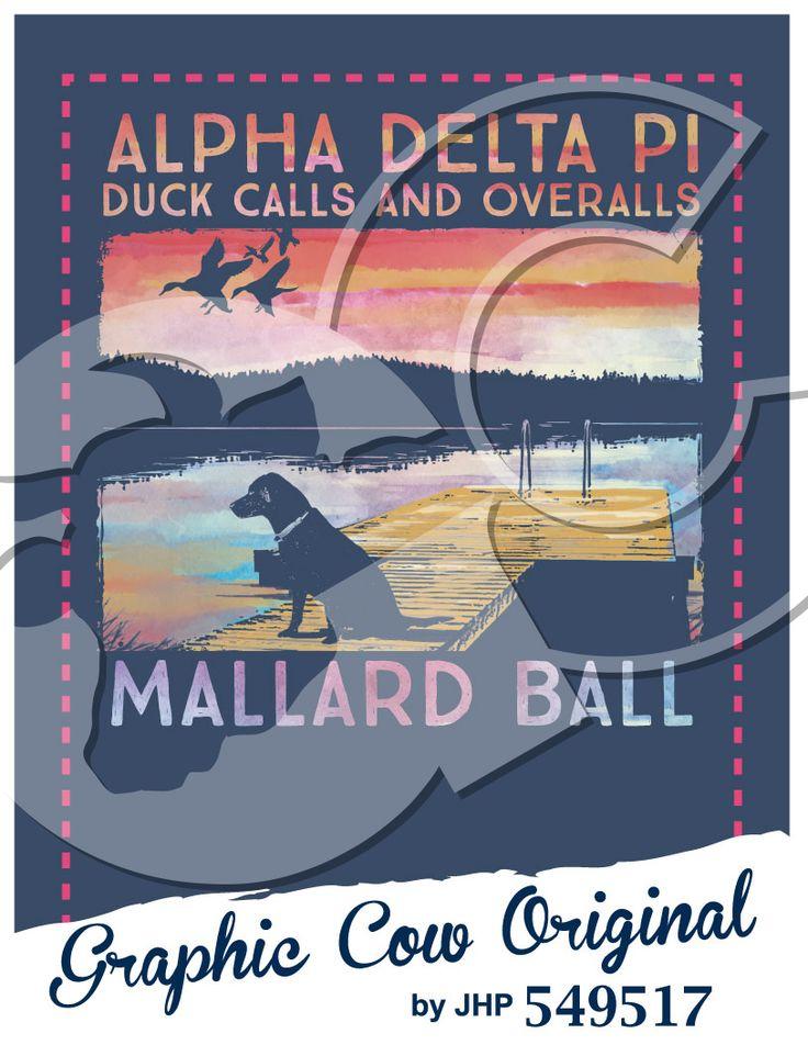Duck Calls and Overalls Mallard Ball dog duck dock lake watercolor hunting #grafcow