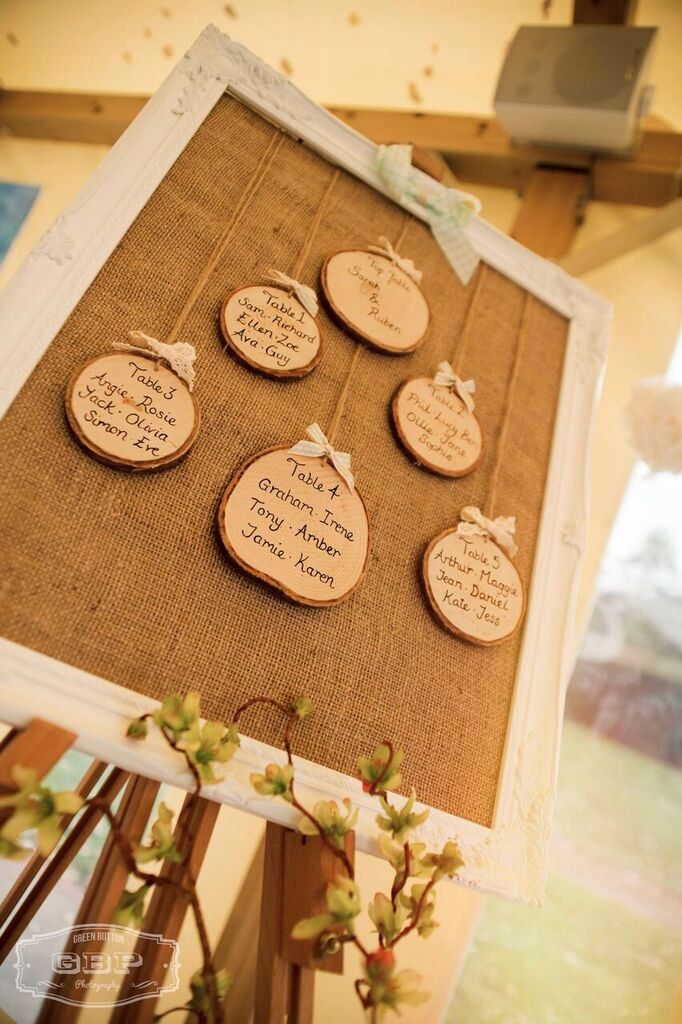 Bespoke handcrafted table plans from Lilly Dilly's #wedding #table #plan #wood #rustic #bespoke #handcrafted #Lilly Dilly's #log slices