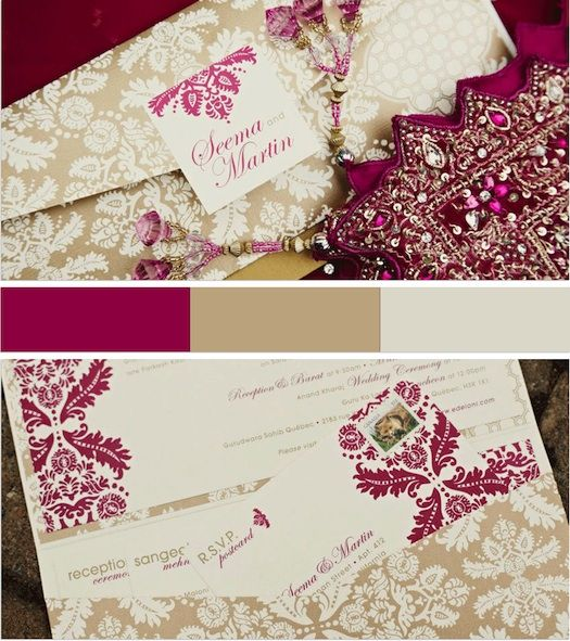 Indian inspired wedding invites