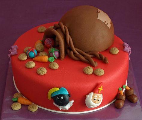 De zak van Sinterklaas taart.