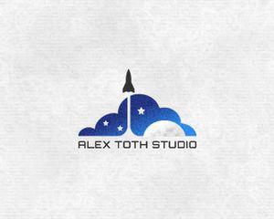 ロケットがモチーフのロゴデザイン 20個