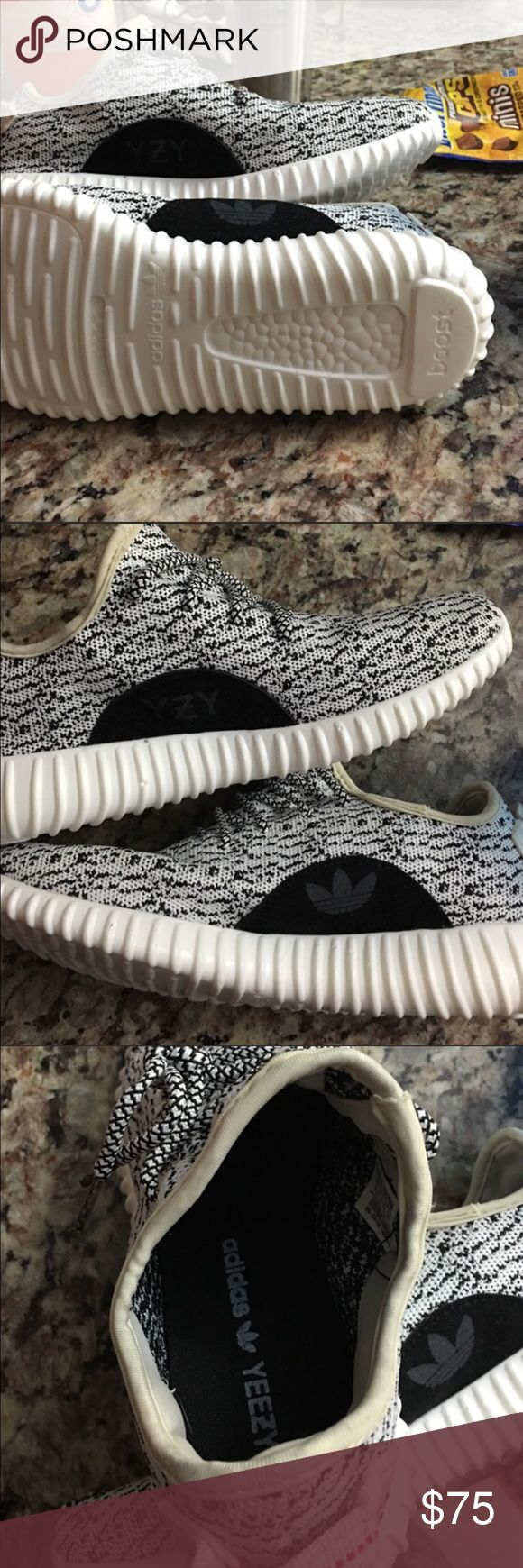 Adidas yeezy boost shoes These are a replica of Adidas Yeezy Boosts. They are in amazing condition. They are a reposh, as they are size 7.5, but they were listed as women's and are, in fact, most likely men's sizing. They are too big for me :( Shoes Athletic Shoes