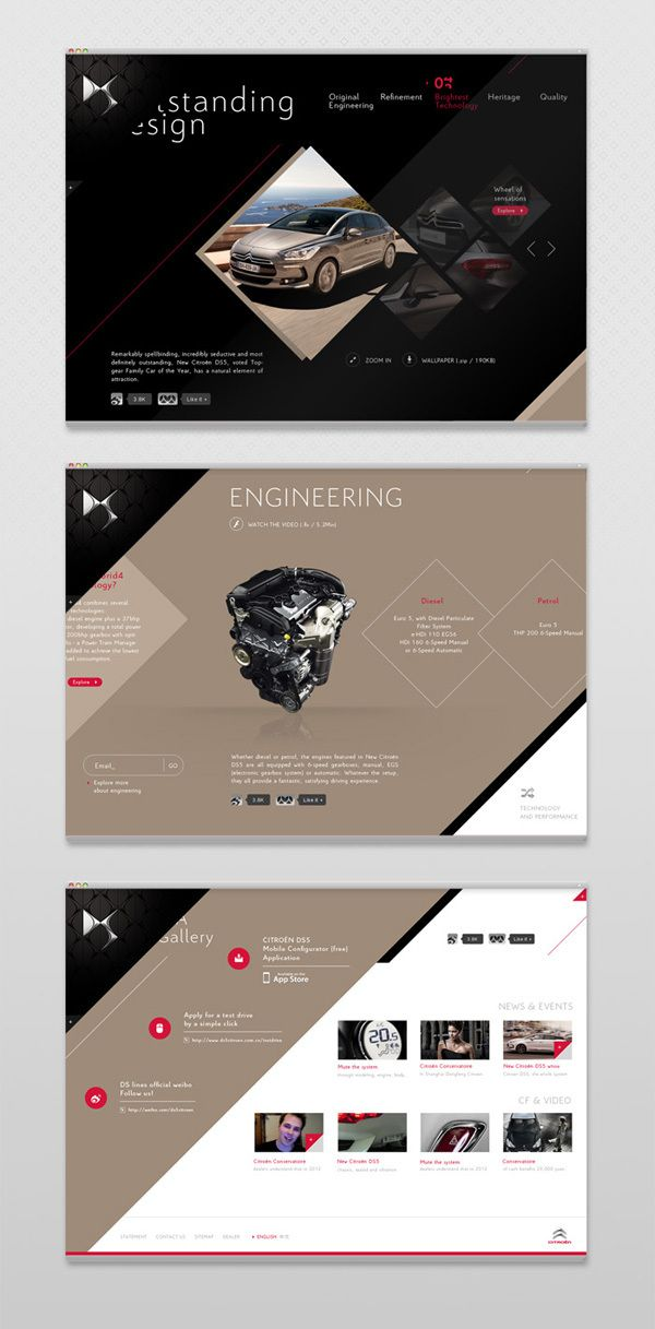 Citroën DS Visuals 2011 by Seah Doyle, via Behance | #webdesign #it #web #design #layout #userinterface #website #webdesign <<< repinned by an #advertising #agency from #Hamburg / #Germany - www.BlickeDeeler.de