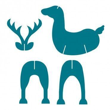 Новогодний олень с санями (с изображениями)   Олень ...