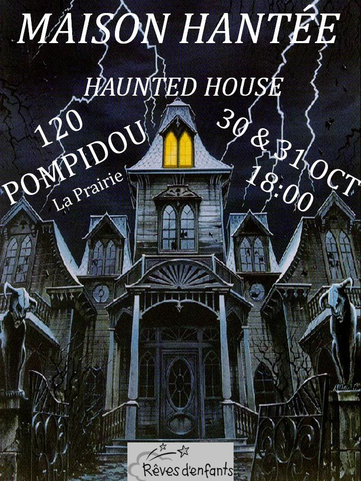 Maison Hantee signe coroplast; Haunted House coroplast sign; Halloween coroplast signs; Halloween Party wall sign; Halloween Invitation coroplast sign; we provide full colour print on coroplast signs