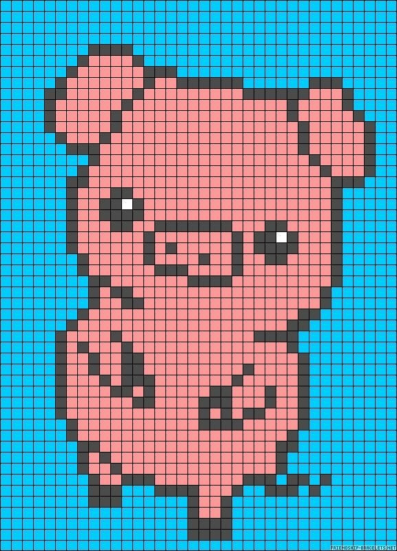 Perler Bead Pig Pattern Diy Crafty Fuse Bead Patterns