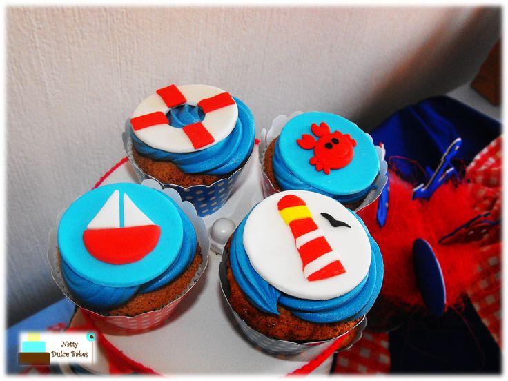Sailor themed cupcakes