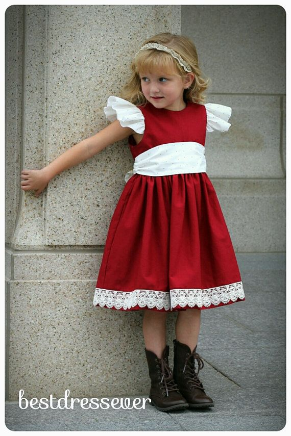 Toddler Red Christmas Dress,Elegant Christmas Dress,Red Lace Christmas Dress,Toddler Holiday Outfit, Christmas Photo Dress,Christms Outfit