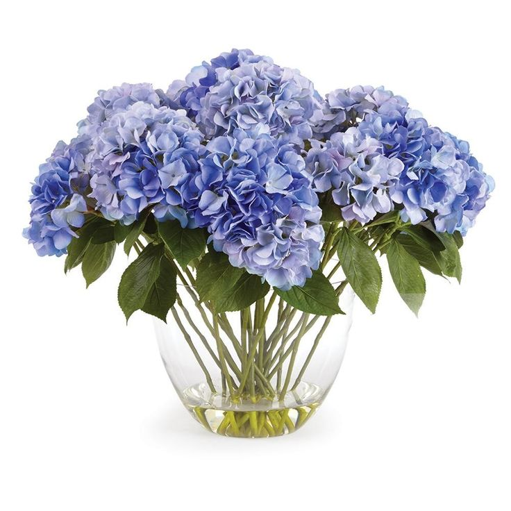 26.5'' Hydrangea Flower Arrangement in Clear Vase