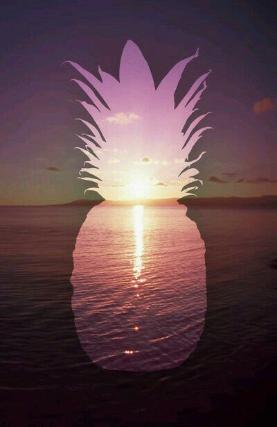 Pineapple beach girl wallpaper cute kawaii smartphone iphone galaxy
