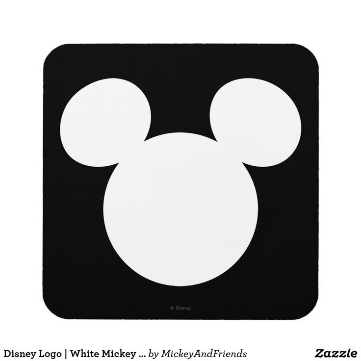 Disney logo white mickey icon coaster zazzleca