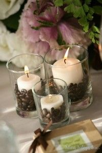Will tea lights last the whole night? Something like this, perhaps? Nice to incorporate the coffee theme :)