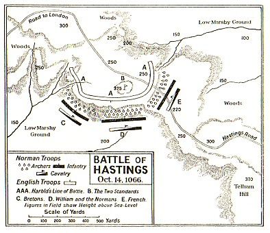 Maps of the Battle of Hastings (October 14, 1066) - click for hour by hour maps. Mystery of History Volume 2, Lesson 55 #MOHII55