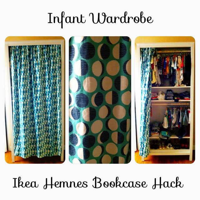 DIY Ikea Hemnes Bookcase Hack Infant Wardrobe for our Baby Nursery by Sanctuary Studio,