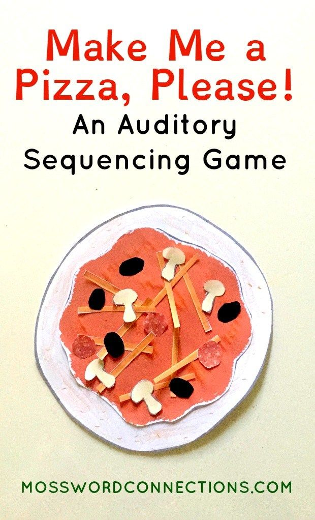 Make Me a Pizza, Please! An Auditory Sequencing Game