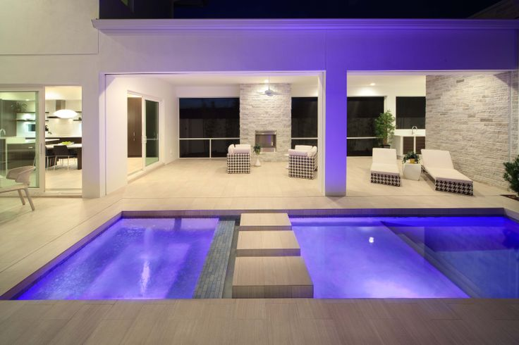 The expansive lanai spaces flank the pool design f by for Waycool homes