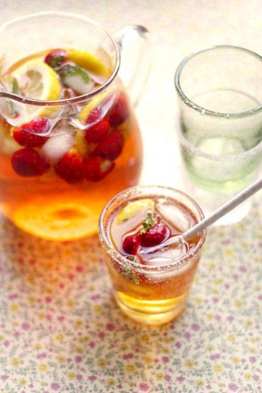 iste, recept iste, iste med jordgubbar och citron, iste med jordgubbar, iste recpet enkelt, volang iste,