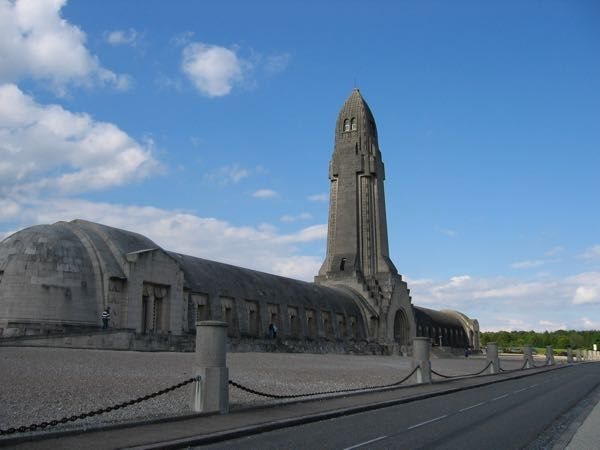 Douaumont Ossurary, Verdun France. This post is about Verdun, France and a bit of little-known history about fraternization amongst the French, German and Scottish soldiers during WW1. http://www.francetraveltips.com/verdun-unofficial-christmas-truce-wwi/