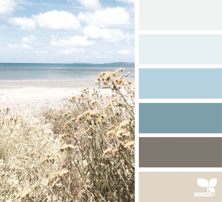 Color palette for maritime style in the bedroom