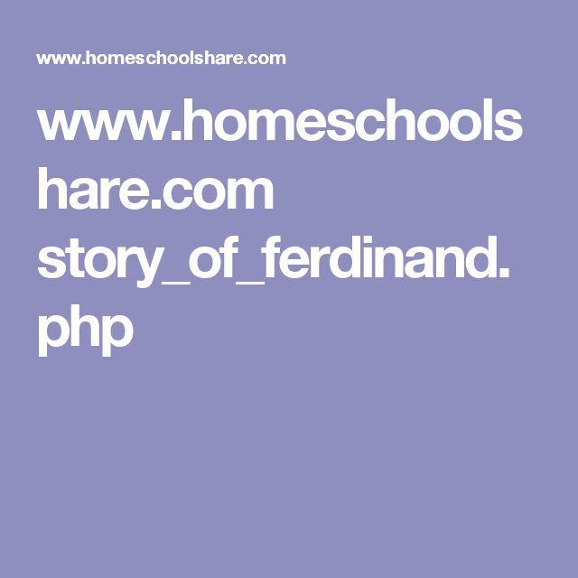 www.homeschoolshare.com story_of_ferdinand.php