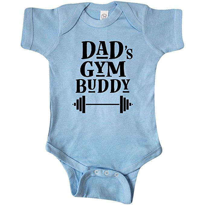 Inktastic Dad/'s Gym Buddy Childs Workout Infant Creeper Work Out Daddys Hws