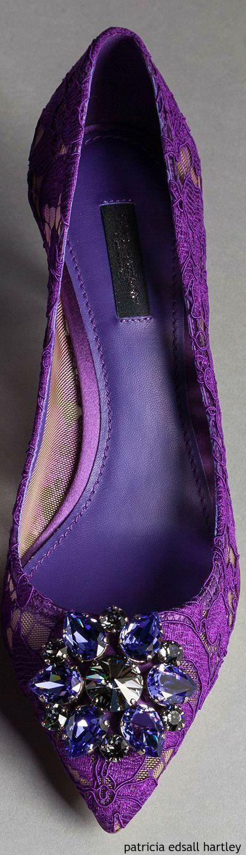 Dolce & Gabbana  ~ Deep Violet  Embellished Flat, Winter 2016