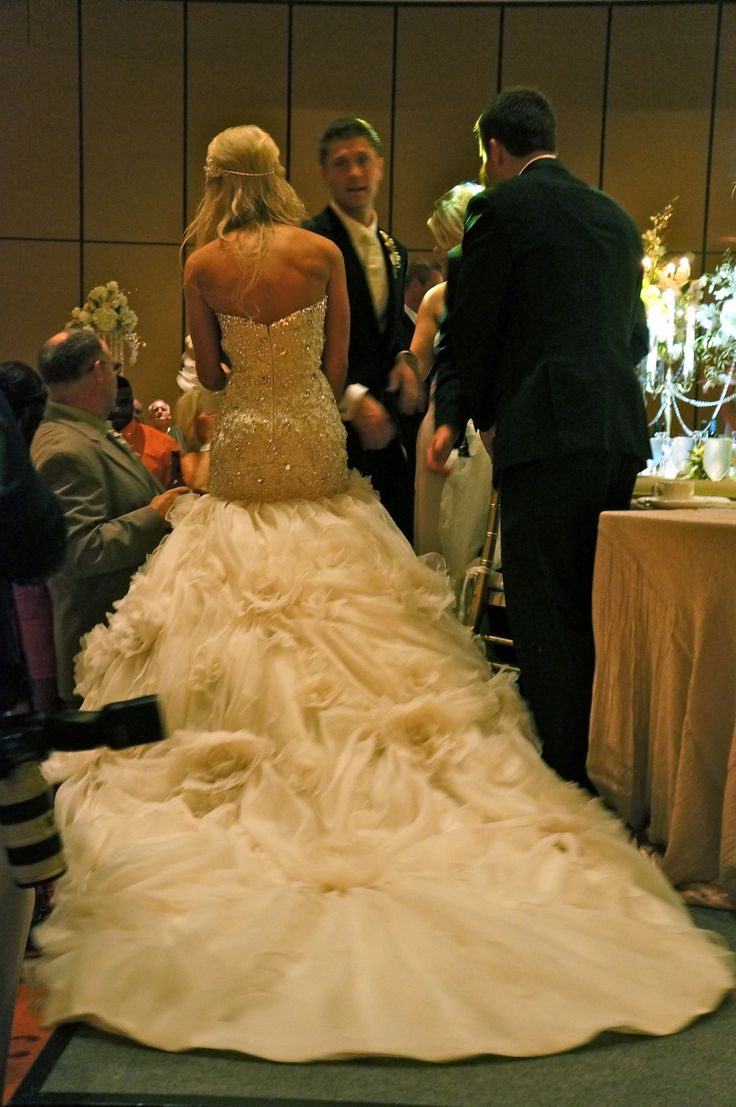 very pretty wedding dress. the back