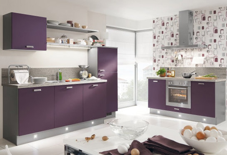 lila k che von pino by alno purple kitchen by pino. Black Bedroom Furniture Sets. Home Design Ideas