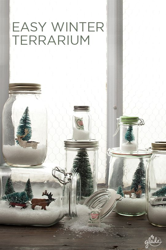 Sometimes the smallest things can spread the most joy. Create your own story to tell and entertain friends with a few mason jars, a little snow and a lot of fun! Tell your own winter terrarium story and then explore more DIY crafts to give the gift of joy.