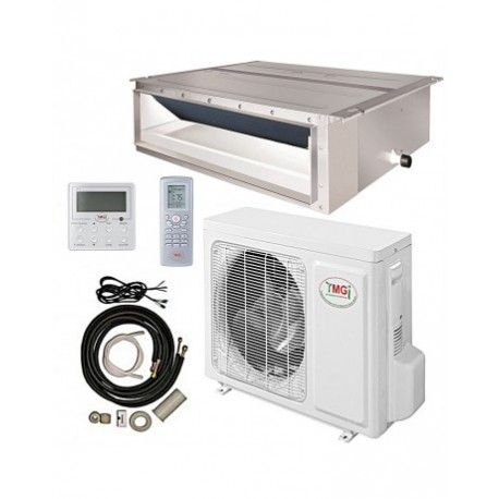 18000 BTU YMGI DUCTED RECESSED MINI SPLIT AIR CONDITIONER HEAT PUMP 208-230V 18 SEER DC INVERTER WITH KIT