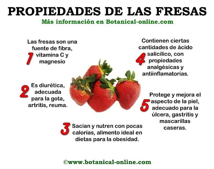 Propiedades de la fresa!