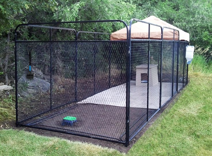 6' X 24' Ultimate Kennel (flooring, cover, dog run w/ house inserted.
