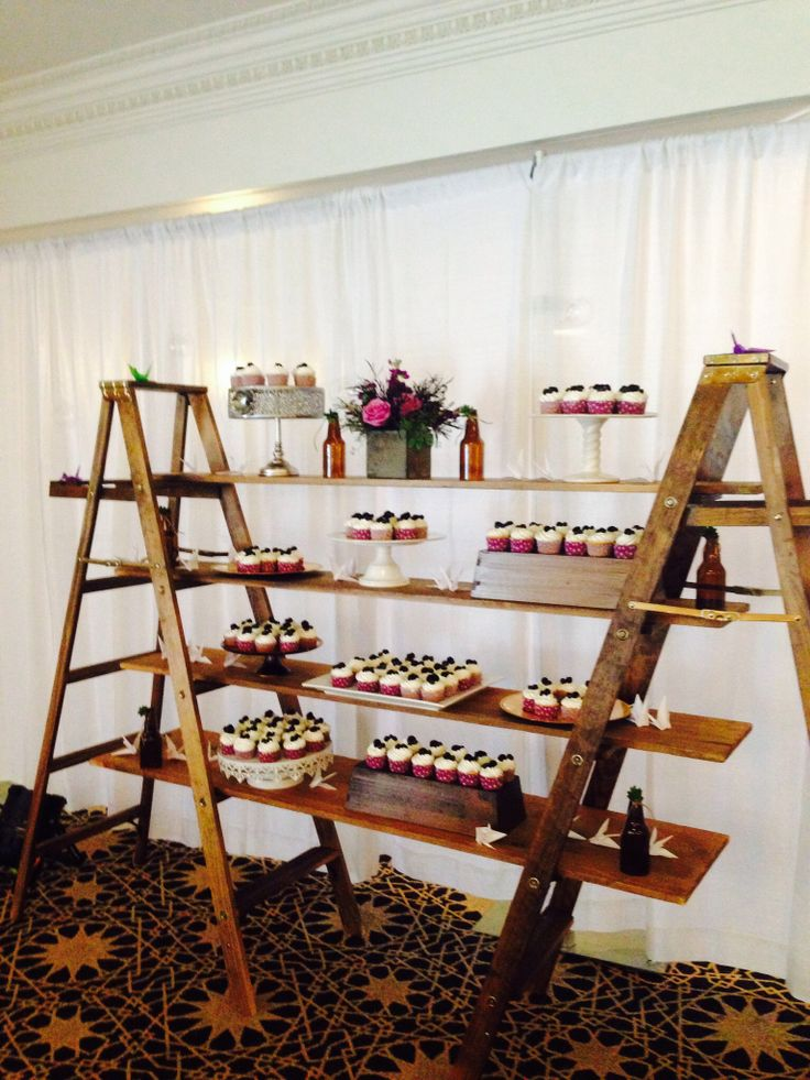 Cupcake Ladder A Fun Way To Display Your Deserts Ladder