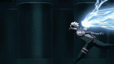 Chidori, Hatake Kakashi. #Naruto#GIF