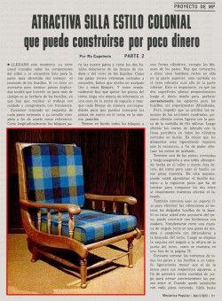 ATRACTIVA SILLA DE ESTILO COLONIAL MARZO 1972 ABRIL 1972 005 copia