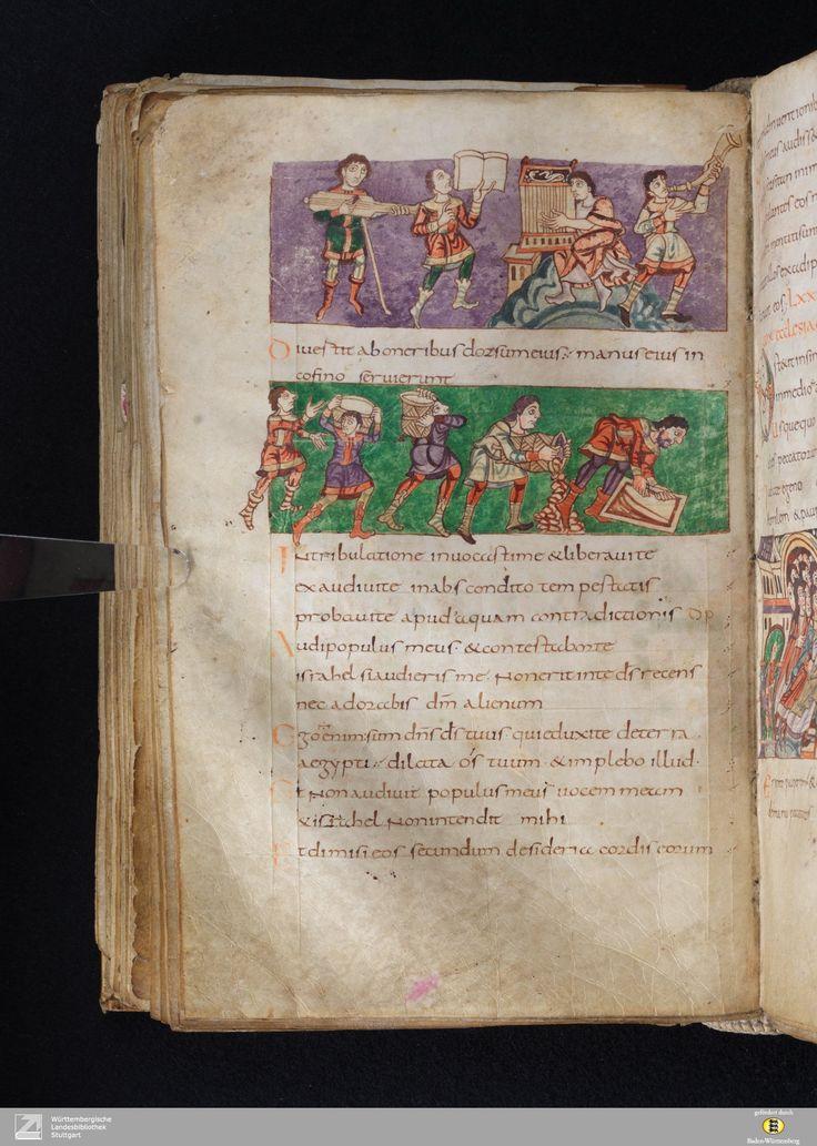 Stuttgart Psalter, f. 23. Paris, 820-30.