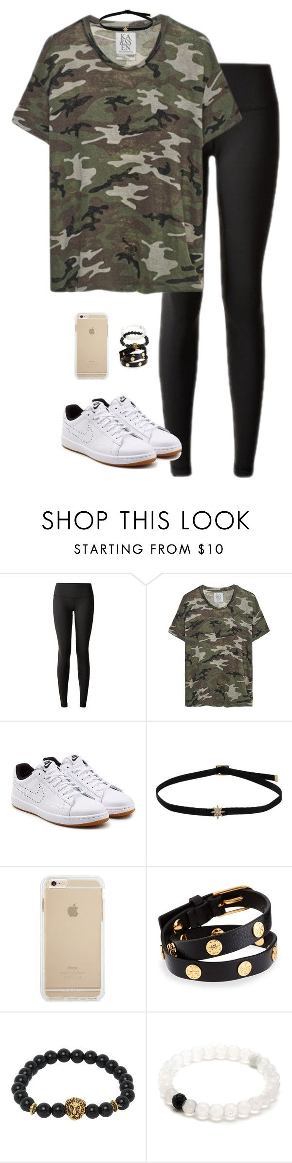 """""""camo theme football game"""" by tessorastefan ❤ liked on Polyvore featuring lululemon, NIKE and Tory Burch"""