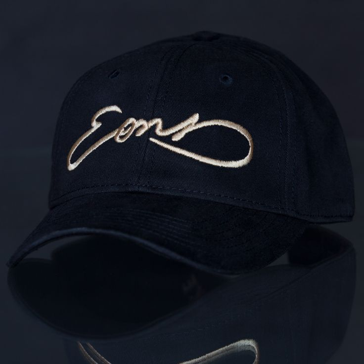 Eons (Script-Gold) Black Adjustable Cap