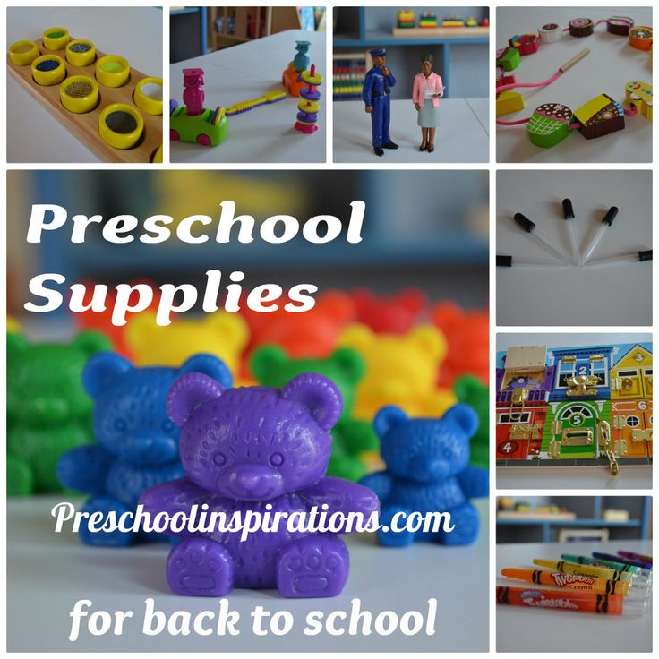 Preschool Supplies for Back to School by Preschool Inspirations
