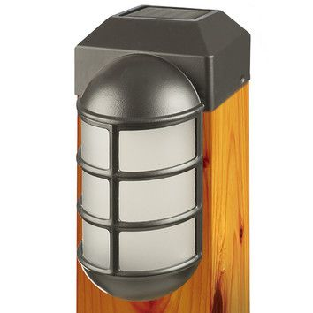 Solar lighting for fence posts