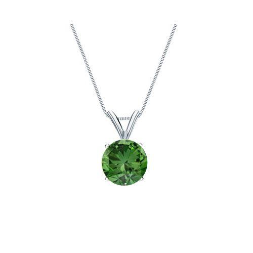 0.25 Karat grüner Diamant Solitär Anhänger, 585/14K Gold für nur 699 Euro  #diamantanhaenger #weissgold #gelbgold #rosegold #gruener_diamant #schmuck #kette #collier #juwelier #abt #dortmund #karat