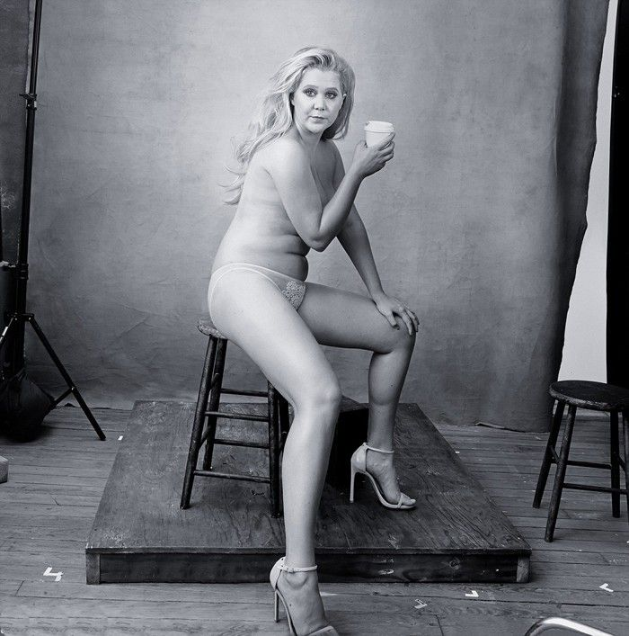 See Amy Schumer as a Lingerie Model for the 2016 Pirelli Calendar via @WhoWhatWear