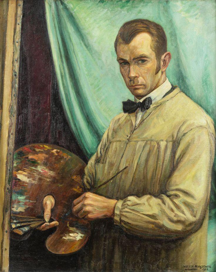 Autoportret z paletą Wojciecha Podlaszewskiego z 1922 r. Dwudziestopięcioletni ówcześnie malarz ukazał siebie w chwili zadumy przy pracy. Każdy autoportret jest jak stanięcie przed lustrem, co czyni obraz niejako zwierciadłem, w którym przegląda się artysta, być może zadając sobie i nam wiele pytań (np. o sens sztuki?). Tu zagadką jest też zaburzona relacja odbicia – dziwnie ucięta krawędź palety.