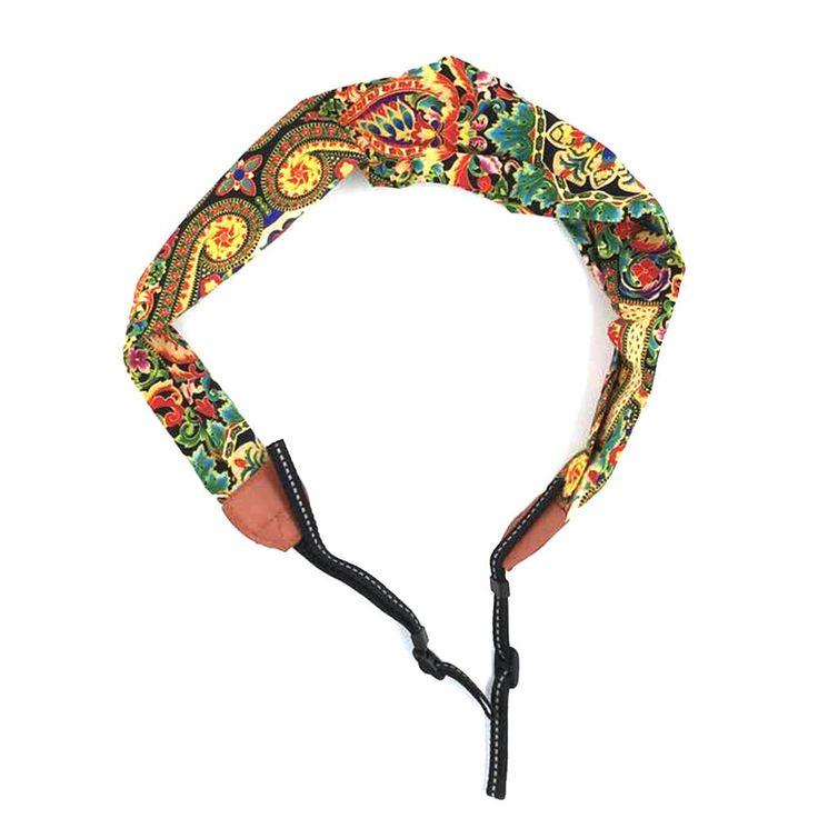 Chevron Camera strap scarf Vintage Ethnic Flowers Style DSLR Camera Strap by CollectionBeauty on Etsy