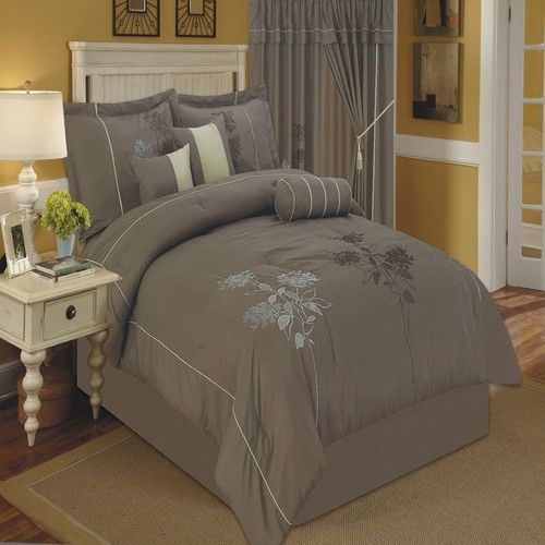 R-T #1696 Mocha Luxury 7-Piece Comforter Set