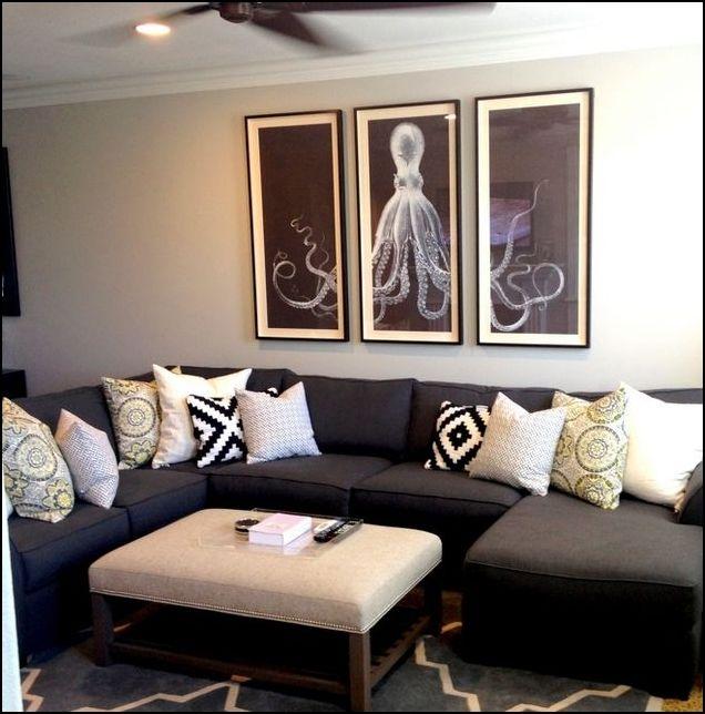 Herbstkissen Dark Sofa Cozy House Living Room Grey