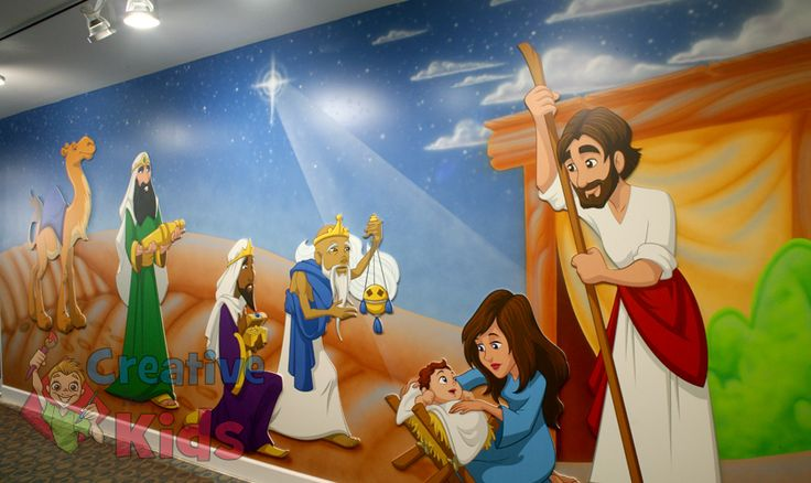 Children S Ministry Theme Mural Children S Ministry