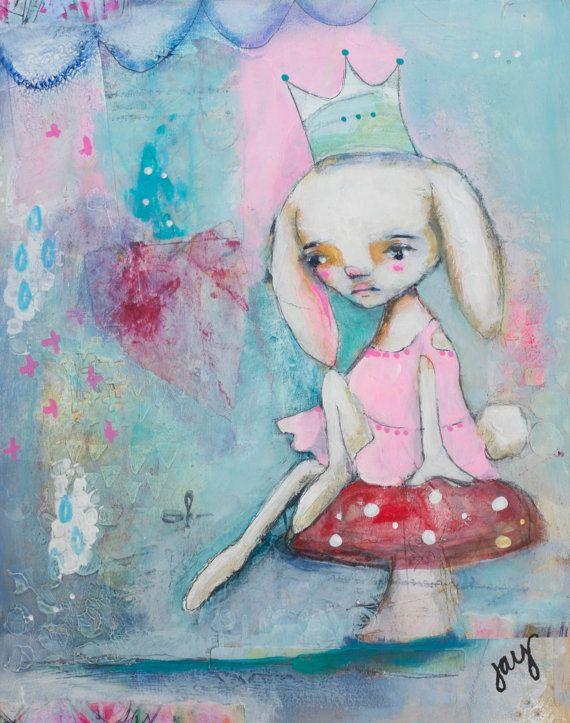 Even Bunnies Get the Blues - Art by Jay Watkins