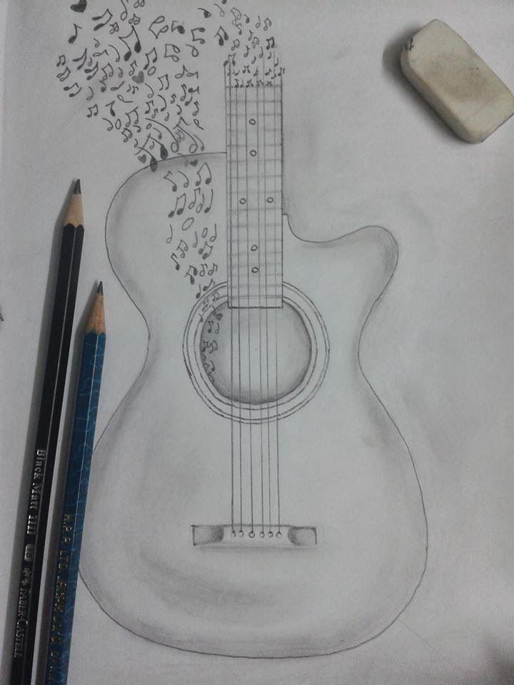 Best 20+ Guitar Drawing Ideas On Pinterest